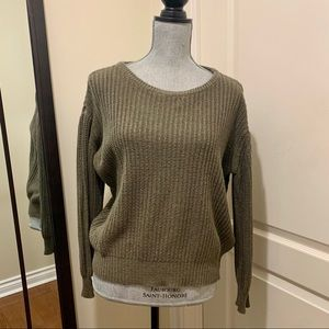 Brandy Melville olive green knit sweater
